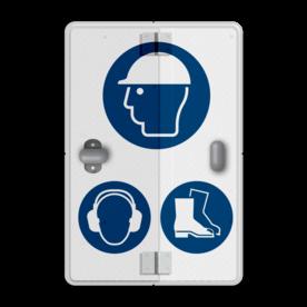 Informatiebord PBM - Eigen ontwerp - 2 standen - Boekwerkbord Soldaat van oranje, klapbord, bladzijde, klep