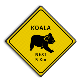 Verkeersbord Austraie - KOALAS Koala