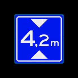 Verkeersbord Maximale doorrijhoogte  Verkeersbord RVV L01 - Maximale doorrijhoogte L01 L1, maximale hoogte