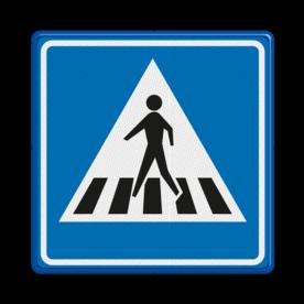 Verkeersbord Voetgangers oversteekplaats / zebrapad  Verkeersbord RVV L02 - Voetgangers oversteekplaats / zebrapad L02 oversteken, wandelen, voetganger, L2