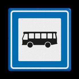 Verkeersbord Bushalte Verkeersbord RVV L03b - Bushalte L03b Tram, Tramhalte, Bus, Bushalte, L03, L03a, L03c, busstation