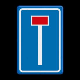Verkeersbord Doodlopende weg Verkeersbord RVV L08 -  Doodlopende weg L08 doodlopende weg, l8, versperring, geen doorgang, L8