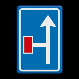 Verkeersbord Voorwaarschuwing doodlopende weg Verkeersbord RVV L09-2l - Doodlopende weg - voorwaarschuwing L09 doodlopende weg, l9, versperring, geen doorgang, L9, voorwaarschuwing, vooraanduiding, geen doorgaande weg