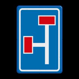 Verkeersbord Voorwaarschuwing doodlopende weg Verkeersbord RVV L09-3l - Doodlopende weg - voorwaarschuwing L09 doodlopende weg, l9, versperring, geen doorgang, L9, vooraanduiding, voorwaarschuwing, geen doorgaande weg