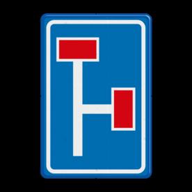 Verkeersbord Voorwaarschuwing doodlopende weg Verkeersbord RVV L09-3r - Doodlopende weg - voorwaarschuwing L09 doodlopende weg, l9, versperring, geen doorgang, L9, vooraanduiding, voorwaarschuwing