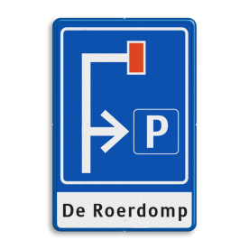 Verkeersbord Doodlopende weg - eigen tekst Verkeersbord RVV L09-4r - E04 + 1 regel txt doodlopende weg, l8, versperring, geen doorgang