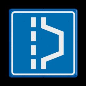 Verkeersbord Vluchthaven Verkeersbord RVV L14 - Vluchthaven L14 pech, vlucht, noodhaven, haven