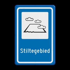Verkeersbord Stiltegebied Verkeersbord RVV L306b - Stiltegebied L306 Stiltegebied, Stilte, gebied, rust, rustgebied, natuur