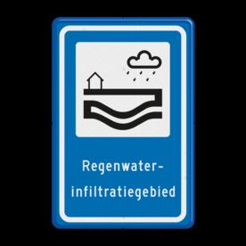 Verkeersbord Regenwaterinfiltratiegebied Verkeersbord RVV L307b - Regenwaterinfiltratiegebied L307 Regenwater, Infiltratie, Infiltratiegebied, Regenwaterinfiltratiegebied, gebied, rust, rustgebied, natuur, L307e, L307