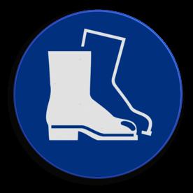 Product Het dragen van laarzen is verplicht Veiligheidspictogram - Laarzen dragen verplicht - M008 NEN7010, veiligheidspictogram, laarzen, verplicht