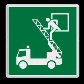 Product Locatie van de brandweerauto Veiligheidspictogram - Reddingsvenster - E017 Brandweer, auto, vuur, locatie