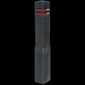 Bermpaal Recycling diamantkop 15x15x140cm + reflecterende stroken parkeerpaal, aanrijdpaal, bermpaal, recycling paal, verseperringspaal, aanrijdbeveiliging, afzetpaal