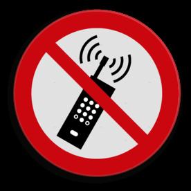 Product Geen mobiel toegestaan Veiligheidspictogram - Actieve telefoons verboden - P013 Smartphone, GSM, Telefoon, verboden