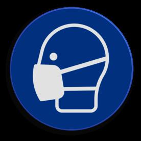 Veiligheidspictogram Het dragen van mondbescherming is verplicht Veiligheidspictogram - Mondbescherming dragen verplicht - M016 NEN7010, veiligheidspictogram, mondbescherming, verplicht, dragen