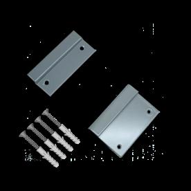 Muurbeugelset RAL7042 Aluminium muurbeugel, bevestigen, bevestigingsmateriaal, gevelbevestiging, gevel, wandmontage