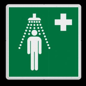 Veiligheidspictogram - Veiligheidsdouche - E012 Nood, douche, water