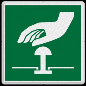 Product bediening voor de noodknop Veiligheidspictogram - Noodknop bediening - E020 Noodknop, nood, knop, alarmknop