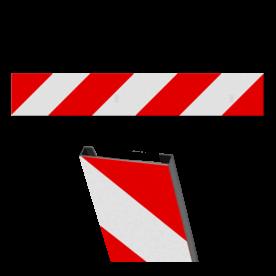 NS plankje 1200x200x15mm - C profiel RAL7042 - RECHTS