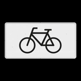 Verkeersbord Onderbord - Geldt alleen voor fietsers Verkeersbord RVV OB02 - Onderbord - Geldt alleen voor fietsers OB02 fiets, wit bord, OB2,geldt alleen voor fietsers, fietsers