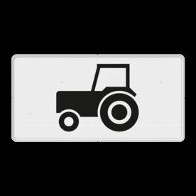 Verkeersbord Onderbord - Geldt alleen voor tractoren Verkeersbord RVV OB05 - Onderbord - Geldt alleen voor tractoren OB05 OB5, geldt alleen voor tractoren, tractoren, tractor, langzaam verkeer