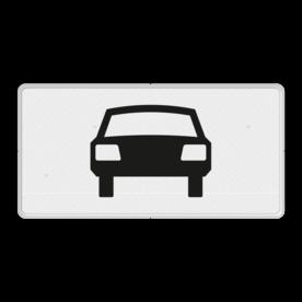 Verkeersbord Onderbord - Geldt alleen voor auto's Verkeersbord RVV OB08 - Onderbord - Geldt alleen voor auto's OB08 auto, wit bord, OB08