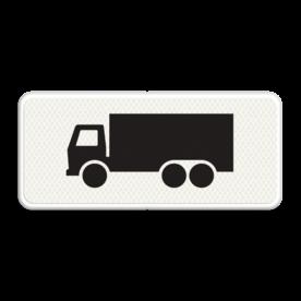Verkeersbord Onderbord - Geldt alleen voor vrachtauto's Verkeersbord RVV OB11 - Onderbord - Geldt alleen voor vrachtauto's OB011 vrachtwagen, vrachtauto, wit bord, OB11