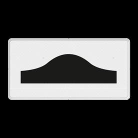 Verkeersbord Onderbord - drempel(s) Verkeersbord RVV OB15 - Onderbord - drempel OB15 drempel, wit bord, OB15, drempels