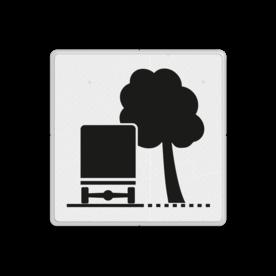 Verkeersbord Overhangende takken Verkeersbord RVV OB17r - Overhangende takken OB17 wit bord, kruispunt, OB17r, overhangende takken, bomen, rechts