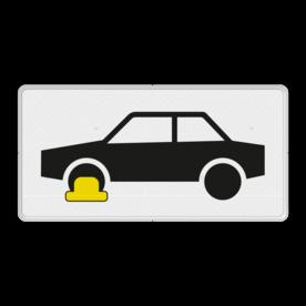 Verkeersbord Onderbord - Wielklemregeling van kracht Verkeersbord RVV OB301 - Onderbord - Wielklemregeling van kracht OB301 wielklem regeling van kracht, wielklemregeling, OB301, OB306