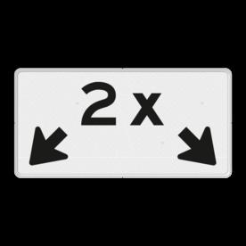 Verkeersbord Onderbord - Geldt voor aantal aangegeven vakken Verkeersbord RVV OBE04 - Onderbord - 2x + OB504 OBE04 wit bord, OBE04, Diversen, elektrisch, 2x, vakken, pijlen, OB504