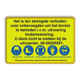 Tekstbord WIU geel/zwart regelement Tekstbord, WIU bord, tijdelijke verkeersmaatregelen, werk langs de weg, omleidingsborden, tijdelijk bord, werk in uitvoering, 3 regelig bord