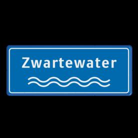 Rivieren naambord blauw-wit ijssel, maas, rijn, beek, water, golfjes, naambord, meer, plas waterweg