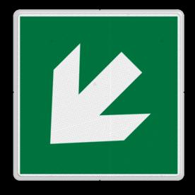 Product Pijl links-omlaag Veiligheidspictogram - Vluchtroute - te volgen richting - Pijl links-omlaag Pijl, links, omlaag, pijlen