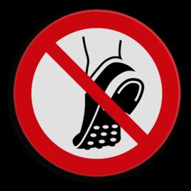 Product Het dragen van profielzolen is niet toegestaan Veiligheidspictogram - Verboden voor profielzolen - P035 drugs, amsterdam