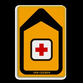 Tekstbord - T201b-logo - Werk in uitvoering Tekstbord, WIU bord, tijdelijke verkeersmaatregelen, werk langs de weg, omleidingsborden, tijdelijk bord, werk in uitvoering, gevaarlijk terrein, drijf zand