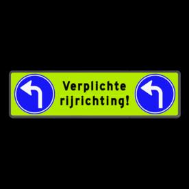 Routebord parkeergarage 1240x340mm - verplichte rijrichting garage, verplichte route