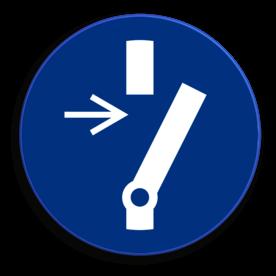 Veiligheidspictogram Schakelen verplicht Veiligheidspictogram - Schakelen verplicht - M021 NEN7010, veiligheidspictogram, schakelen, verplicht