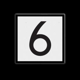 Product Rijden toegestaan met ten hoogste de door het getal aangegeven snelheid. NS Seinbord 312 - snelheidsbord - 400x400mm Wit / zwarte rand, (RAL 9005 - zwart), Let op!, Hier uw, eigen tekst-, regels