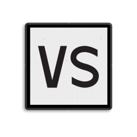 Product Stoppen voor het sein, tenzij de machinist in het bezit is van een geldige aanwijzing Verkeerd Spoor voor het betrokken spoor. NS Seinbord 322 - VS Bord - 400x400mm Wit / zwarte rand, (RAL 9005 - zwart), Let op!, Hier uw, eigen tekst-, regels