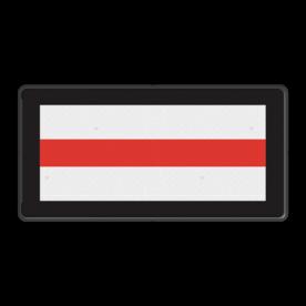 NS Stoppen voor het sein. NS Seinbord 513 - 600x300mm - Nederlandse Spoorwegen Wit / zwarte rand, (RAL 9005 - zwart), Let op!, Hier uw, eigen tekst-, regels