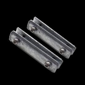 Beugelset spijlen- / gaashek staal - ANTI-DIEFSTAL (set 2 stuks) bevestigingsbeugel, hekbeugel, ophangbeugel, hekbevestiging, beugel, bevestigingsmateriaal