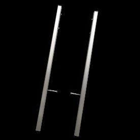 Montageframe TS3 staanders - geborsteld aluminium - set 2 stuks