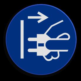 Veiligheidspictogram Stekker verwijderen verplicht Veiligheidspictogram - Stekker verwijderen verplicht - M006 NEN7010, veiligheidspictogram