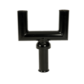 Mast-opzetstuk 2-voudig zwart RAL9005 t.b.v. verkeerslichtmast ø102/133mm