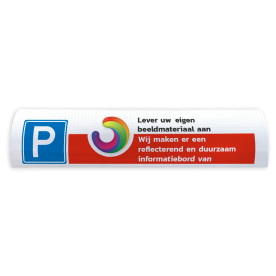 Parkeerbord t.b.v. biggenrug  - Met eigen logo of beeldmateriaal parkeer, biggenrug, parkeer, rug, varkensrug, kop, parkeerplaats, reflecterend