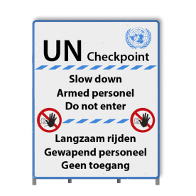 Informatiepaneel UN-bord 9905 622 - UN Checkpoint Sign