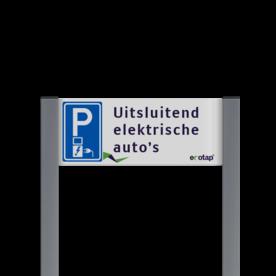 Parkeerplaatsbord unit, Parkeren met eigen tekst - Ecotap Parkeerbord, parkeerplaats, eigen plaats, parkeren, RVV E04, p bord,