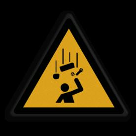 Veiligheidspictogram Waarschuwing voor vallende onderdelen Veiligheidspictogram -  Pas op! vallende onderdelen - W035 Vallendende onderdelen