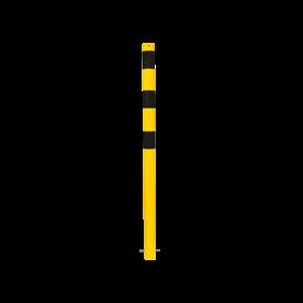 Afzet-, rampaal (SH1) Ø 60 mm - geel/zwart (verzinkt en gecoat staal) Rampaal, Afzetpaal, Ramkraak, Magazijn, Inrichting, Juwelier, Bank, Ramzuil, veilig, ram, Menhir, Beveiliging