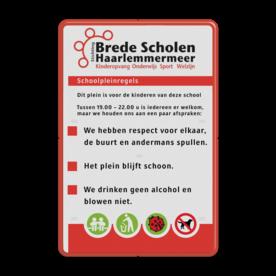 Informatiebord rechthoek 2:3  FC - SBSH logobord, eigen ontwerp, schoolplein, speciale borden